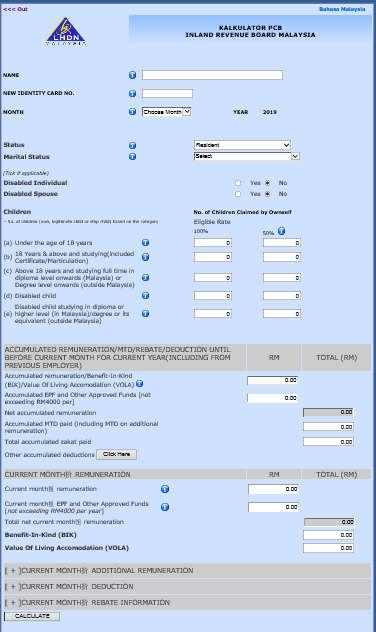 PCB Calculator for Malaysia Payroll System - Smart Touch Technology